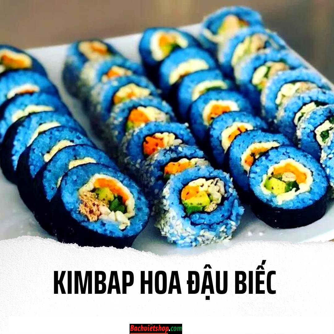 Kimbap hoa đậu biếc