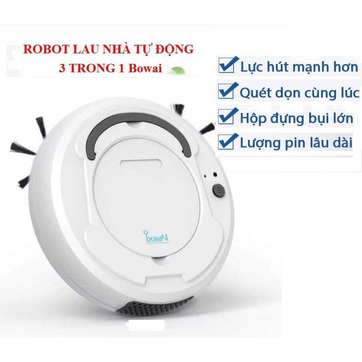 Robot lau nhà hút bụi thông minh Bowai