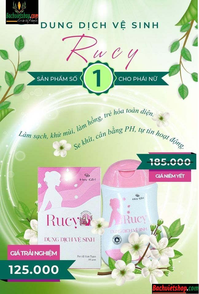dung dịch vệ sinh phụ nữ Rucy
