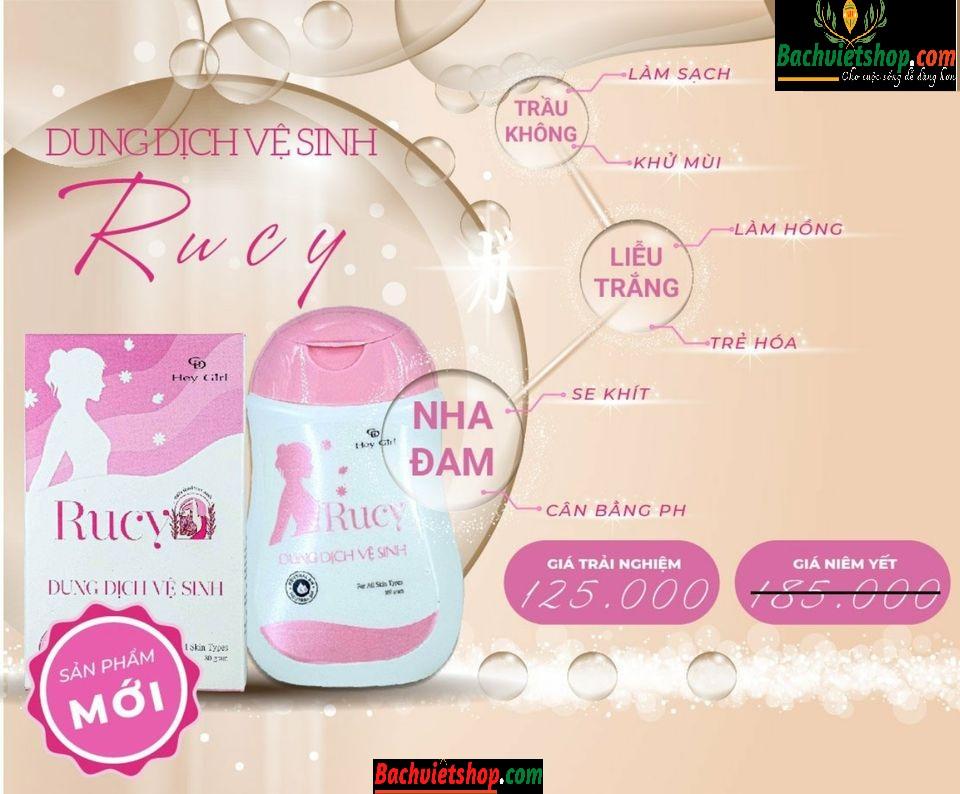 Công dụng của dung dịch vệ sinh phụ nữ Rucy