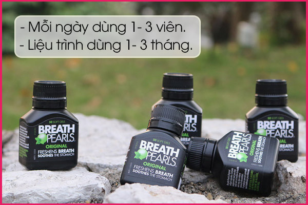 cách sử dụng của viên uống Breath pearls