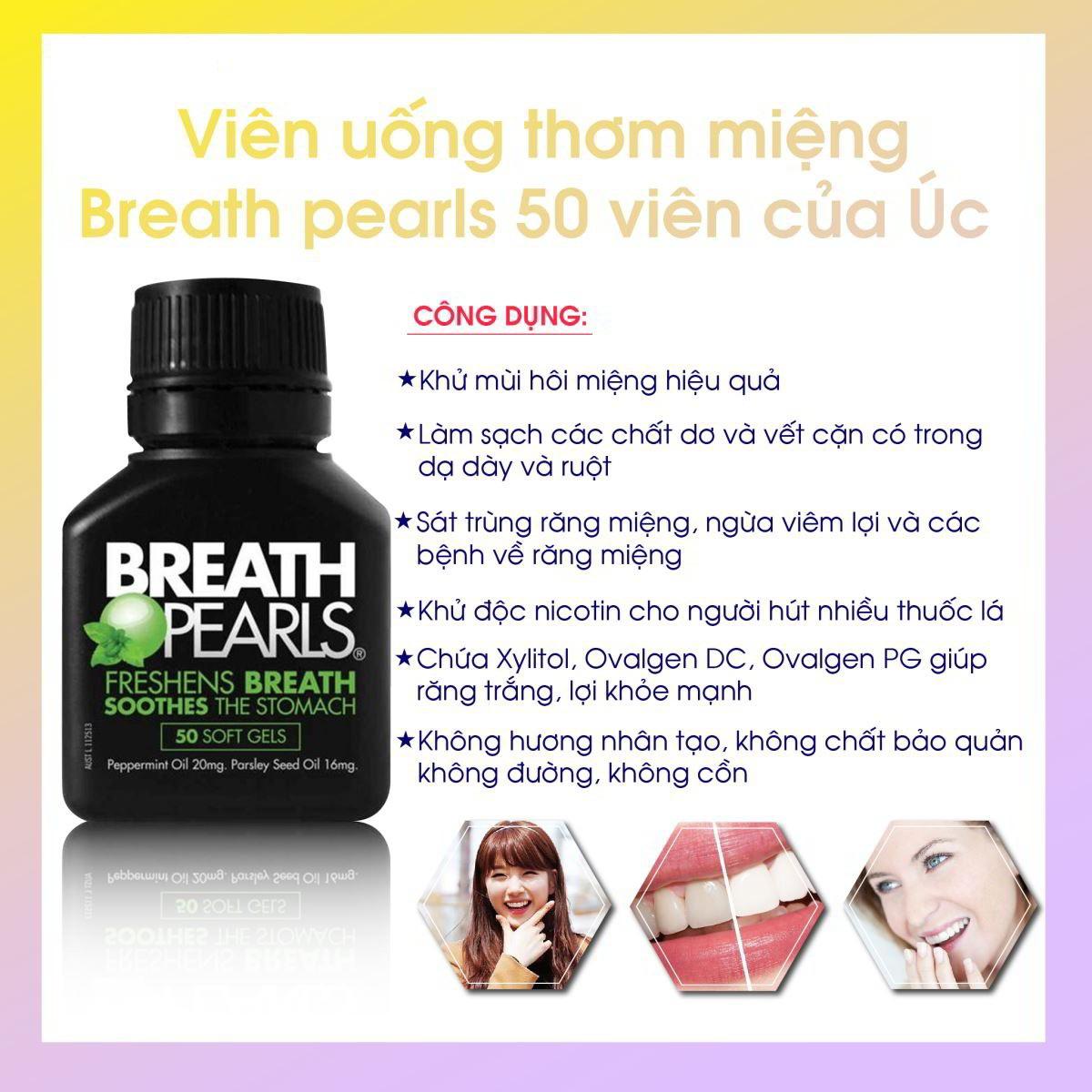 công dụng của viên uống thơm miệng Breath pearls