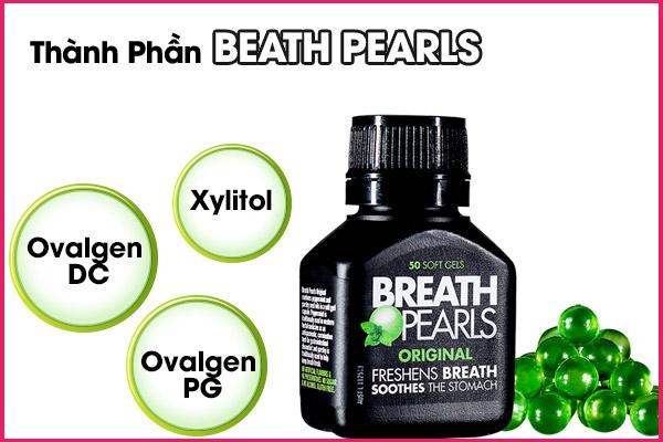 thành phần của viên uống thơm miệng Breath pearls
