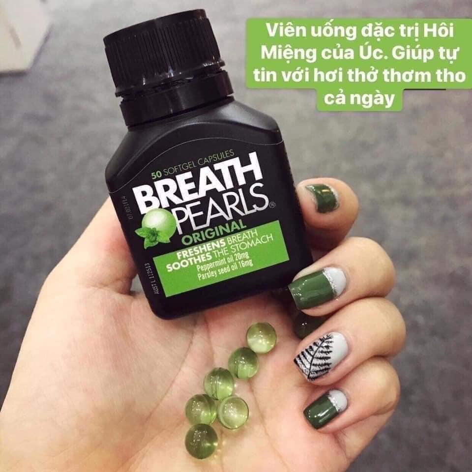 tự tin với hơi thở thơm tho khi dùng viên uống Breath pearls