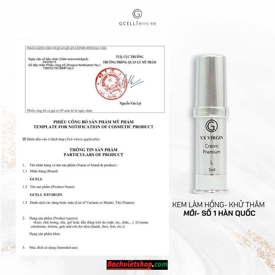 sản phẩm của GCELL đều được cơ quan Y tế của Việt Nam chứng nhận chất lượng và cho phép lưu hành toàn quốc