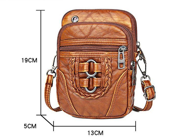 Túi đeo chéo phối khóa nhiều ngăn 2