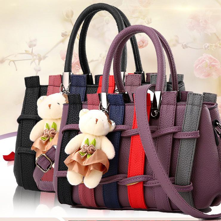 Túi xách thời trang nữ hàng rào kèm gấu 1