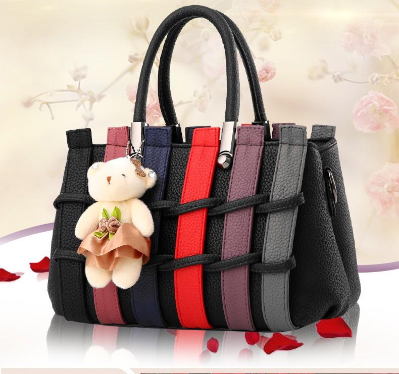 Túi xách thời trang nữ hàng rào kèm gấu 2