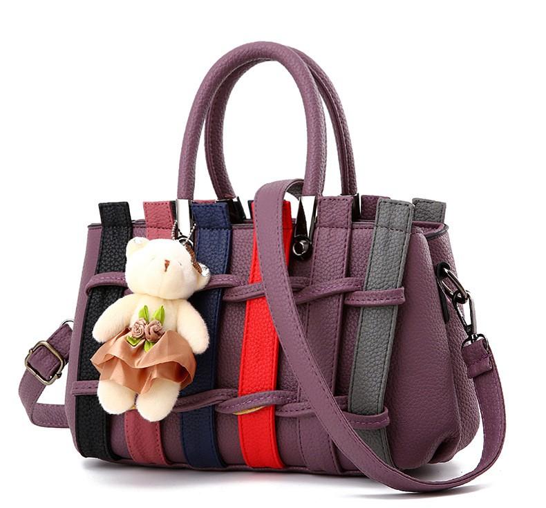 Túi xách thời trang nữ hàng rào kèm gấu 4