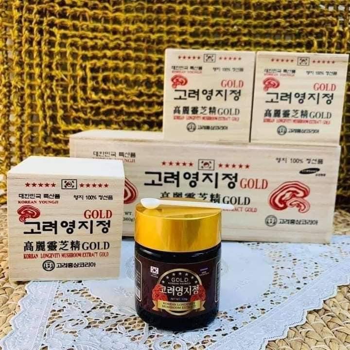 Quy cách đóng hộp cao linh chi đỏ núi Hàn Quốc