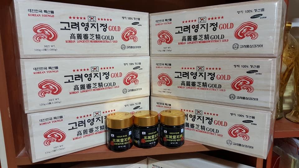 Mua cao linh chi đỏ núi hàn quốc hộp gỗ 360g của Hàn Quốc ở đâu giá tốt đảm bảo?