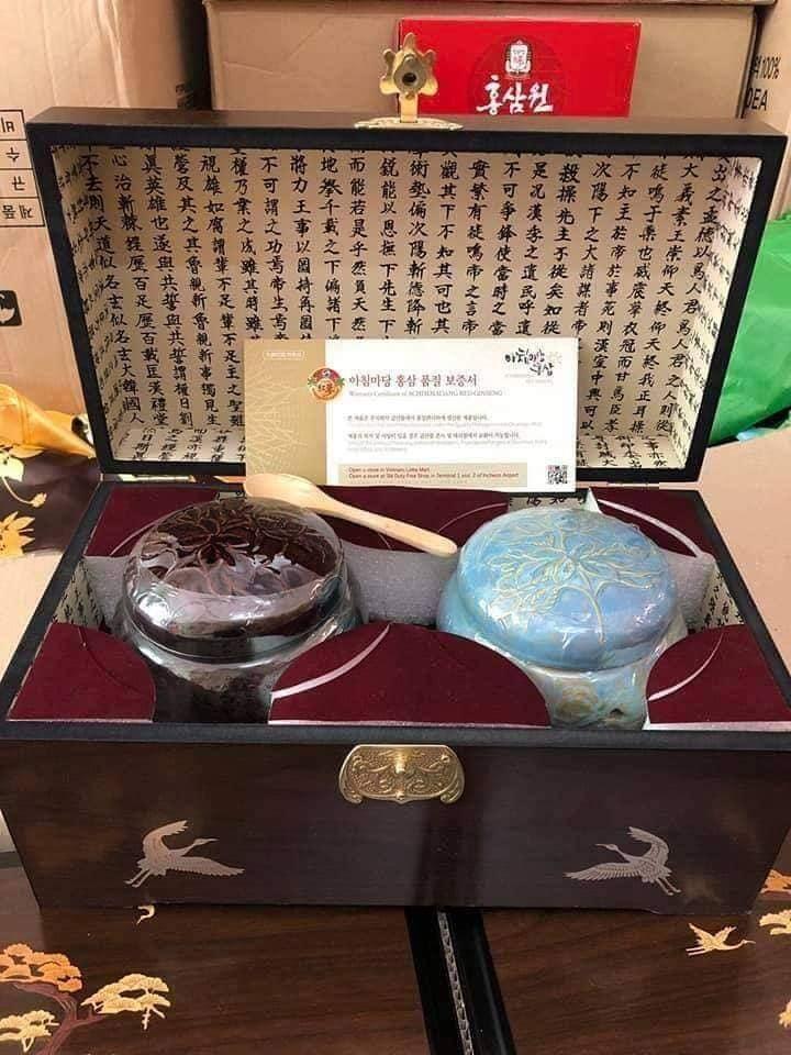 Cao Sâm Hoàng Đế Hoàng Hậu HÀN QUỐC 2 Hộp x 500g 2