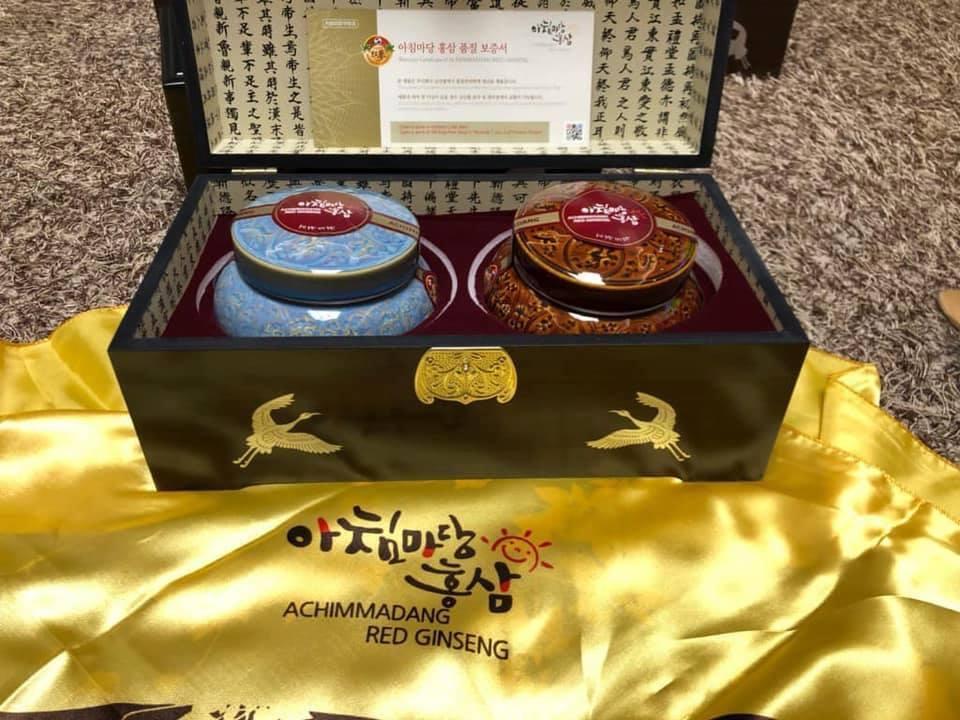 Cao Sâm Hoàng Đế Hoàng Hậu HÀN QUỐC 2 Hộp x 500g 6