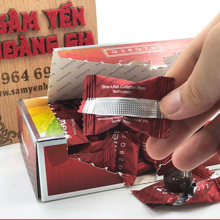 phân biệt kẹo sâm hamer 1
