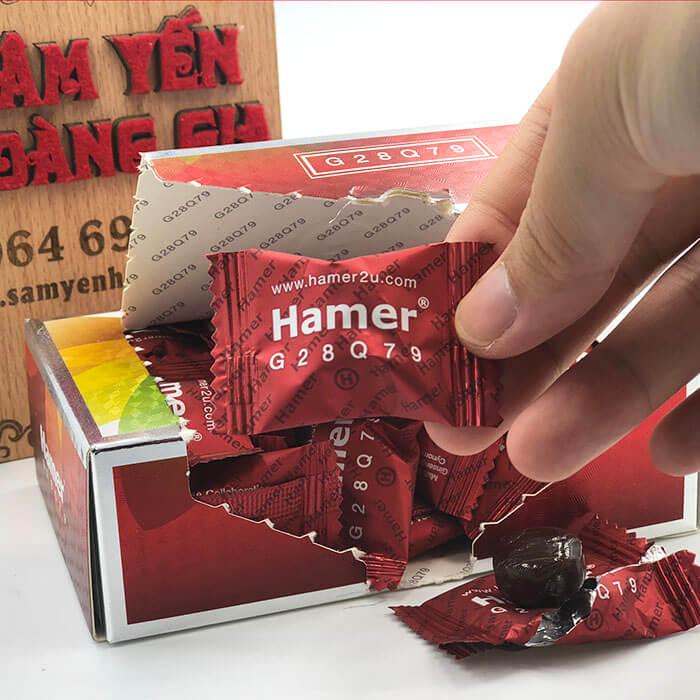 cách phân biệt kẹo sâm hamer